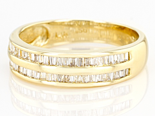 0.50ctw Baguette White Diamond 14K Yellow Gold Band Ring - Size 7