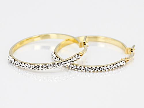 Splendido Oro™ Divino .16ctw Bella Luce® 14k Yellow Gold With a Sterling Silver Core Hoop Earrings