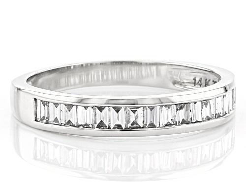 0.70ctw Baguette White Lab-Grown Diamond 14k White Gold Band Ring - Size 8