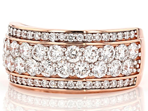 1.62ctw Round White Lab-Grown Diamond 14K Rose Gold Ring - Size 7
