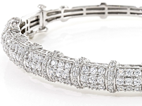 6.65ctw Bella Luce ® Rhodium Over Sterling Silver Bracelet - Size 7.5