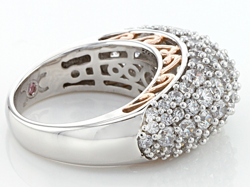 Michael O' Connor For Bella Luce®6.60ctw Diamond Simulant Rhodium Over Sterling & Eterno™Ring - Size 5