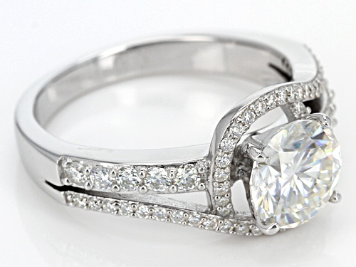 Moissanite Fire® 2.24ctw Diamond Equivalent Weight Round Platineve™ Ring - Size 11