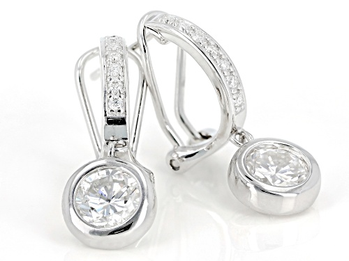 MOISSANITE FIRE® 2.14CTW DEW ROUND PLATINEVE™  EARRINGS