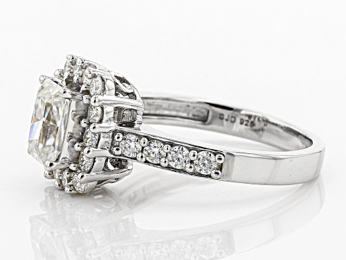 MOISSANITE FIRE® 1.86CTW DEW RADIANT CUT AND ROUND PLATINEVE™ RING - Size 10