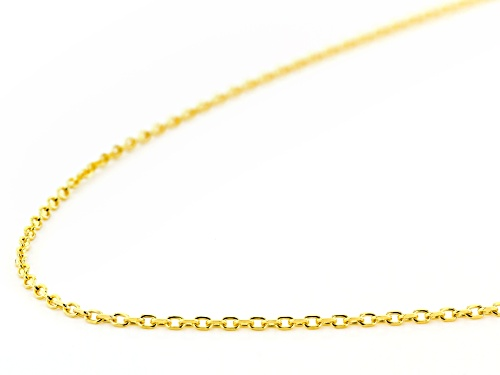 10K Yellow Gold Rolo Chain 20 Inch Necklace - Size 20
