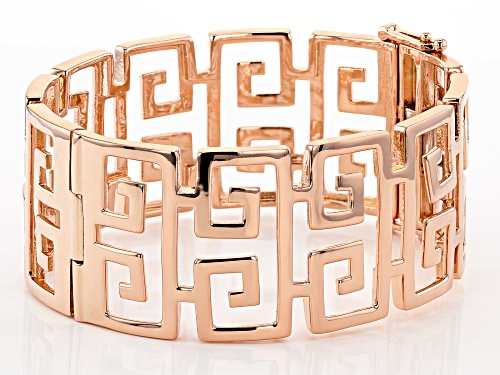 Pre-Owned Timna Jewelry Collection™ Copper Greek Key Pattern Hinged Bangle Bracelet - Size 8