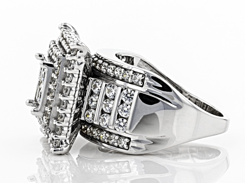 Pre-Owned Bella Luce ® 4.82CTW White Diamond Simulant Rhodium Over Sterling Silver Ring - Size 10