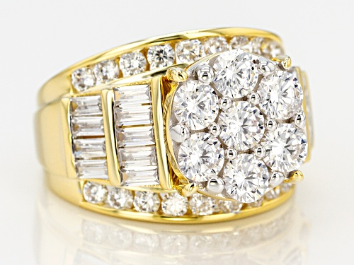 Pre-Owned Bella Luce ® 7.14ctw Round And Baguette Eterno (TM) Yellow Ring - Size 9