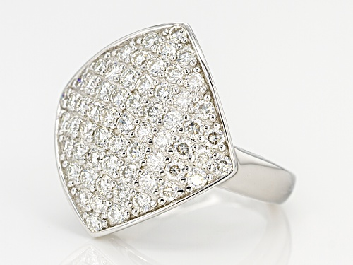 Pre-Owned Moissanite Fire® 1.83ctw Diamond Equivalent Weight Round Platineve™ Ring - Size 8