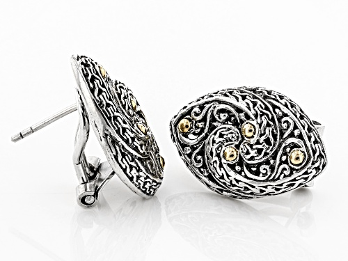 Artisan Collection Of Bali™ Sterling Silver And 18k Gold Accent Infinity Earrings