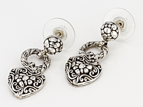 Artisan Collection Of Bali™ Sterling Silver Heart Dangle Earrings