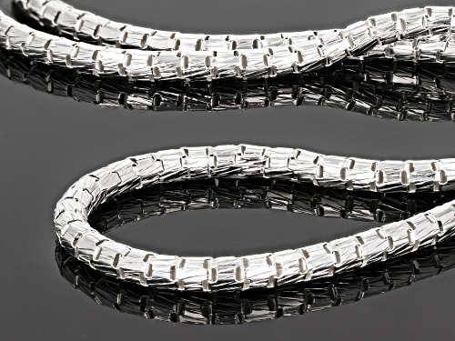 Sterling Silver Round Diamond Cut Designer Chain Necklace 16.5 Inch with 2 inch extender - Size 16.5