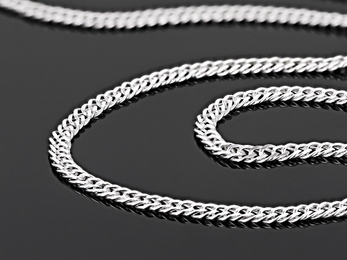 Sterling Silver 2MM Link Chain Necklace 20 Inch - Size 20
