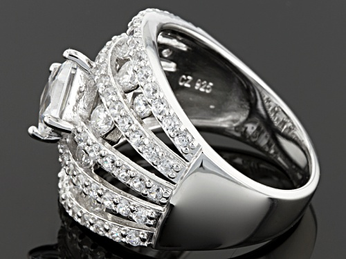 Tycoon For Bella Luce ® 4.90ctw Diamond Simulant Platineve ™ Ring (2.95ctw Dew) - Size 6