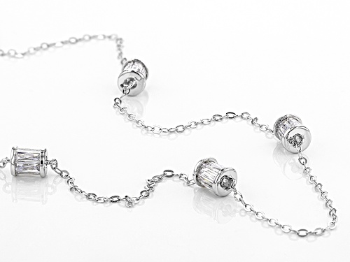 Tycoon For Bella Luce ® 6.02ctw White Diamond Simulant Platineve ™ Necklace(4.56ctw Dew) - Size 18