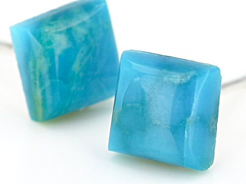 Tehya Oyama Turquoise™ Kingman Turquoise Sterling Silver Square Stud Earrings