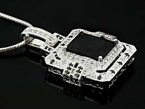 Kolore By Vanna K ™ 8.24ctw Black & White Diamond Simulant Platineve® Pendant With Chain