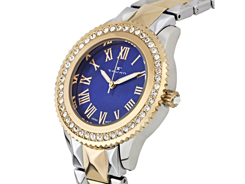 Tavan Charlotte Ladies Watch with Two-Tone Silver/Rose Gold and Royal Blue Pearl Dial