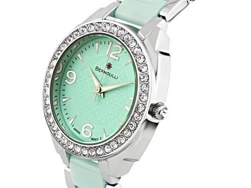 Bernoulli Daeva Ladies Watch Silver Bracelet Green Dial