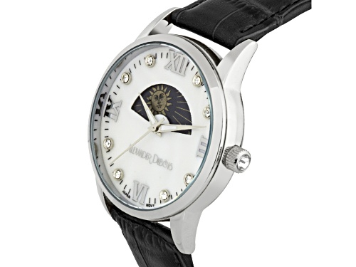 Casual Moon Phase Dial Ladies Leather Watch