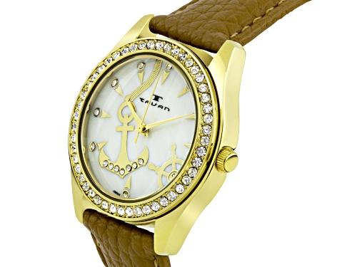 Tavan Nautical Ladies Watch Bone And Gold Tone