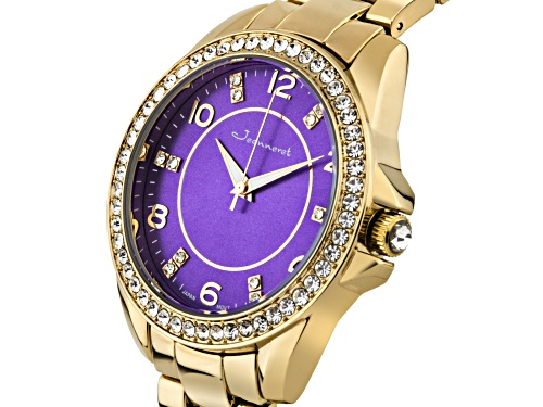 Jeanneret Rosetta Ladies Watch Rose And Purple