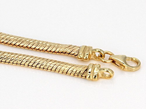 10k Yellow Gold Flex Herringbone Diamond Cut 18 Inch Necklace - Size 18