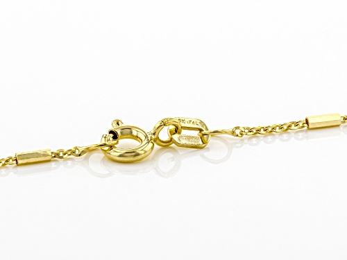 10K Yellow Gold Bar Necklace 20 Inch - Size 20