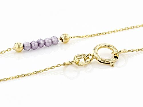 10K Yellow Gold Diamond Cut Rolo Chain Necklace With Bella Luce(R) 2.00ctw Purple Diamond Simulant - Size 24