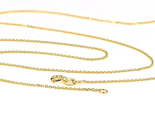 10K Yellow Gold Faceted Square 20