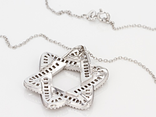 Bella Luce® 5.01ctw Rhodium Over Sterling Silver Star Of David Pendant With Chain