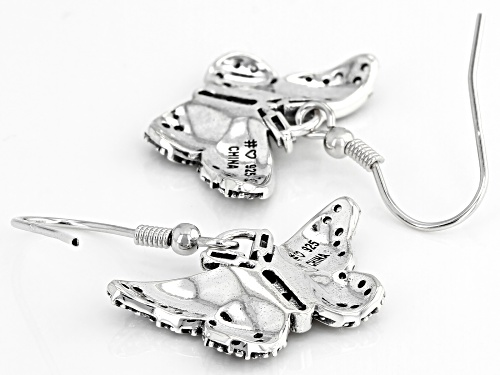 Bella Luce ® 1.06ctw White Diamond Simulant Rhodium Over Silver Butterfly Earrings (0.66ctw DEW)
