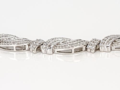 Bella Luce ® 10.22CTW White Diamond Simulant Rhodium Over Sterling Silver Bracelet (6.51CTW DEW) - Size 7.25