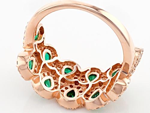 Bella Luce ® 2.74ctw Emerald And White Diamond Simulants Eterno ™ Rose Ring - Size 5