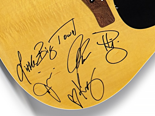 Back The Beat: Autographed Little Big Town Guitar