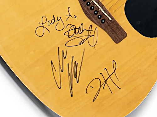 Back The Beat: Autographed Lady A Guitar