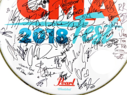 Back The Beat: 2018 CMA Fest Autographed Drumhead