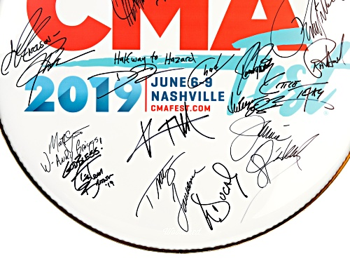 Back The Beat: 2019 CMA Fest Autographed Drumhead