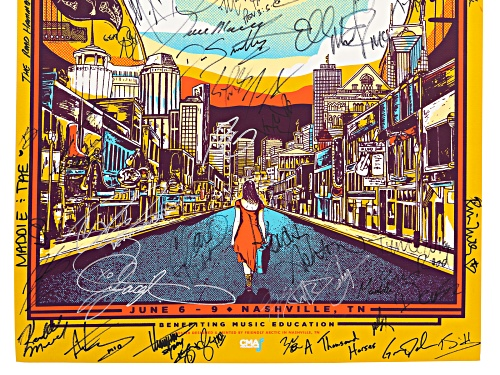 Back The Beat: 2019 CMA Fest Autographed Poster From Fan Fair X