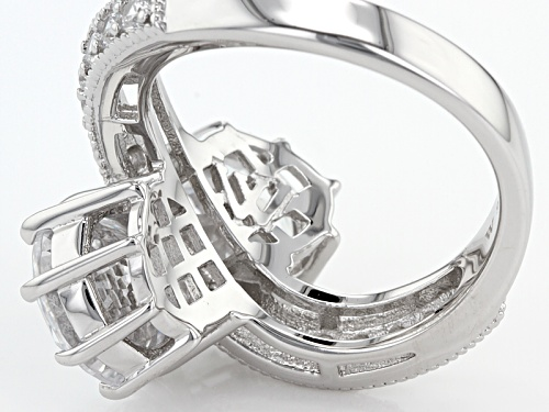 Charles Winston For Bella Luce ® 10.23ctw White Diamond Simulant Rhodium Over Sterling Ring - Size 12