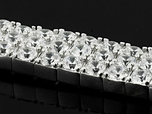 Bella Luce ® 30.00ctw Round Rhodium Over Sterling Silver Bracelet (16.50ctw Dew) - Size 7