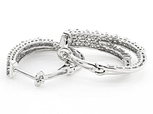 1.00ctw Round White Diamond 10K White Gold Earrings