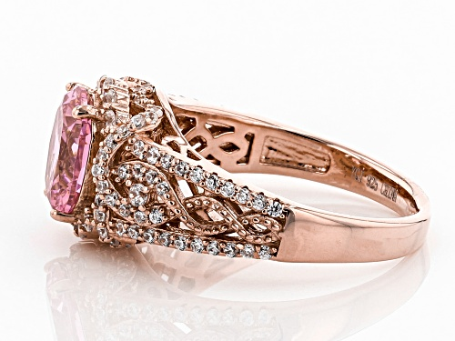 Bella Luce®3.93tw Pink and White Diamond Simulants Eterno™ Rose Ring - Size 7