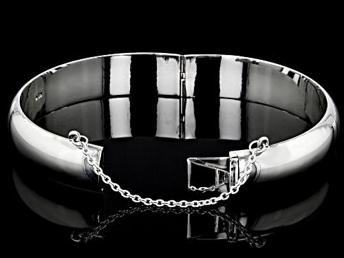 Sterling Silver 12MM 7 Inch Bangle Bracelet - Size 7