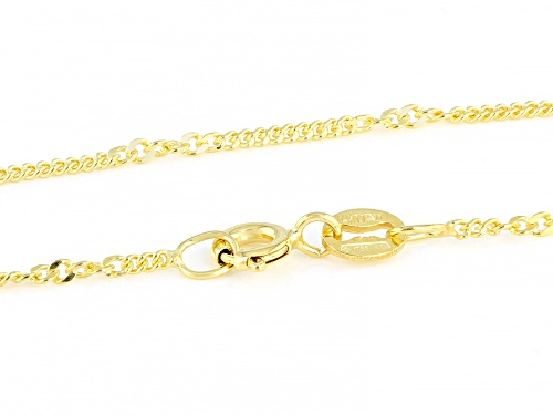 Splendido Oro™ 14K Yellow Gold 1.60MM Curb 18 Inch Chain Necklace - Size 18