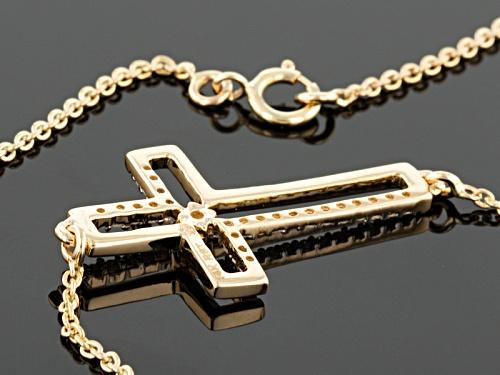 Park Avenue Collection ™ .12ctw Round White Diamond 14k Yellow Gold Necklace - Size 19