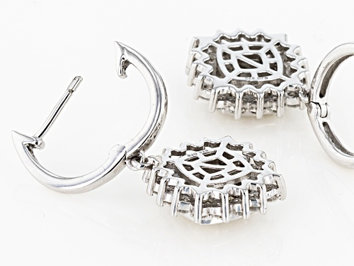 Pre-Owned Moissanite Fire® 1.76ctw Diamond Equivalent Weight Round Platineve™ Earrings
