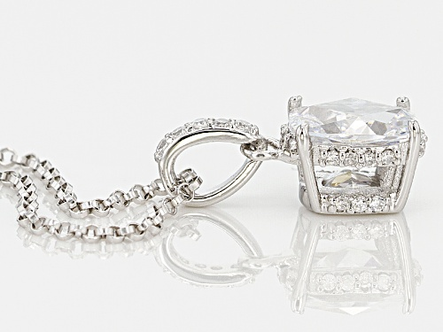 Pre-Owned Tycoon For Bella Luce ® 3.00ctw Diamond Simulant Platineve® Pendant With Chain