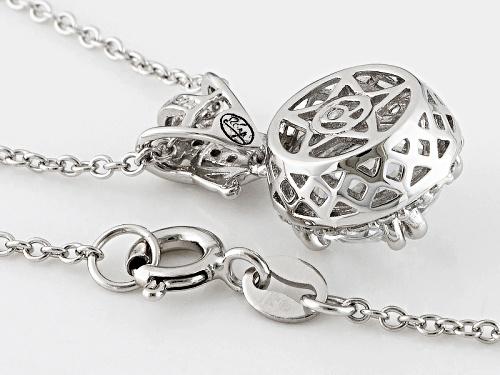 Bella Luce® 5.22ctw White Diamond Simulant Rhodium Over Sterling Silver Pendant With Chain